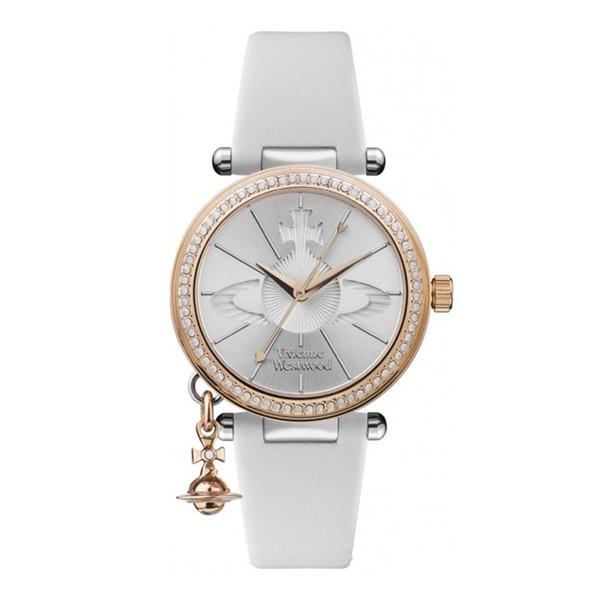 ヴィヴィアン ウエストウッド 時計 レディース 腕時計 揺れる オブチャーム クリスタル ホワイト 白 レザー VV006RSWH ビジネス 女性 ブランド 時計 誕生日 お祝い プレゼント ギフト お洒落