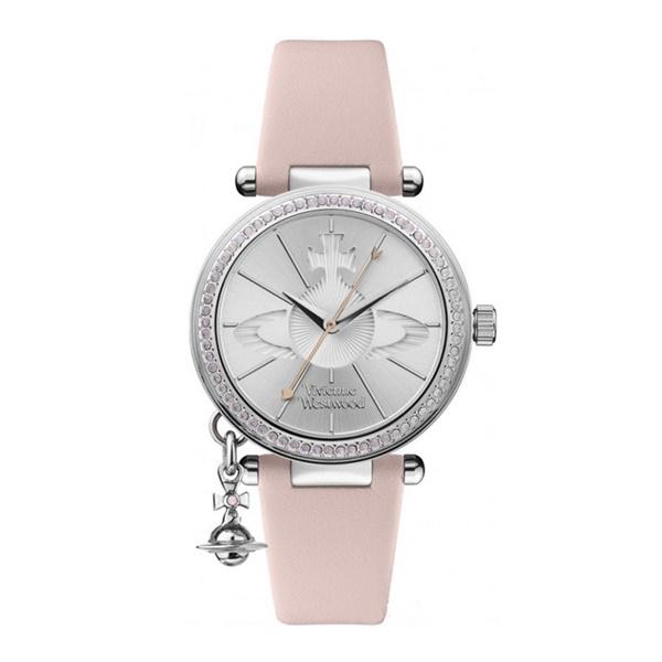 【キャッシュレス5%還元】ヴィヴィアン ウエストウッド 時計 レディース 腕時計 揺れる オブチャーム パステル ピンク レザー VV006SLPK ビジネス 女性 ブランド 時計 誕生日 お祝い プレゼント ギフト