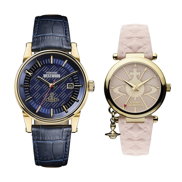fa63da72f3b4 ヴィヴィアン ウエストウッド 腕時計 ペアウォッチ メンズ レディース ダークブルー ピンク レザー 革ベルト VV065BLBLVV006PKPK  ペア