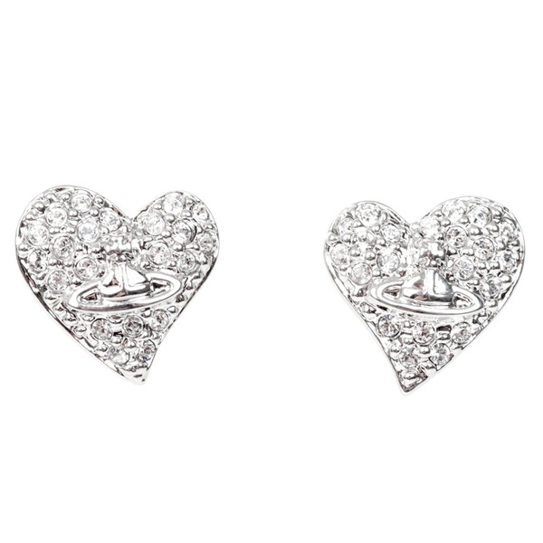ヴィヴィアン ウエストウッド ジュエリー ファッション アクセサリー ピアス TINY DIAMANTE EARRINGS ハート シルバー 724496B/1 ビジネス ブランド 誕生日 お祝い プレゼント ギフト お洒落