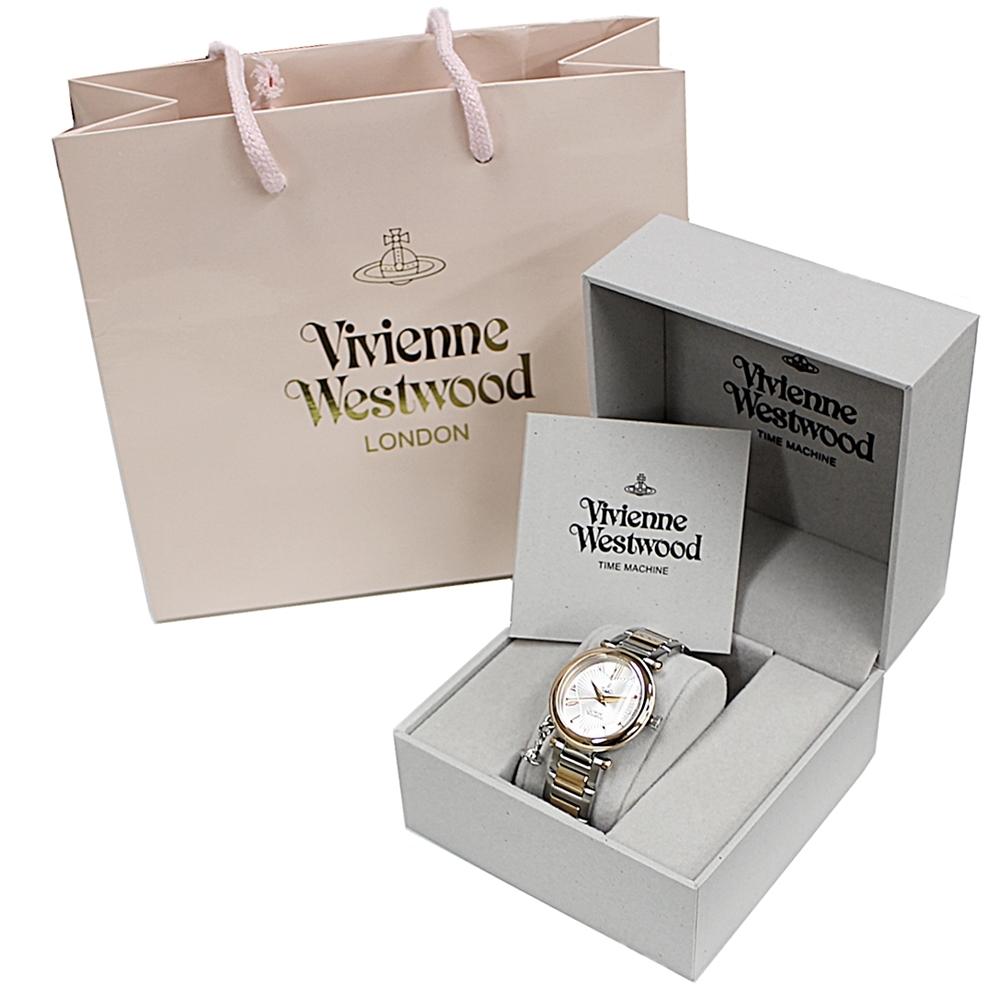 【ヴィヴィアン 時計 ショッパー付き】ヴィヴィアン ウエストウッド 腕時計 レディース ピンクゴールド シルバー ステンレス VV006RSSL オーブ チャームがついてる ブランド 時計 誕生日 お祝い プレゼント ギフト