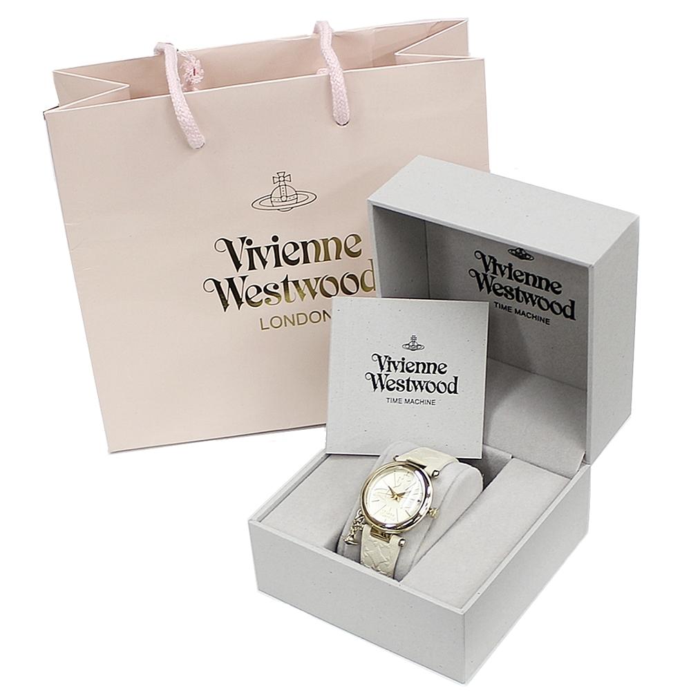 【ショッパー付き】ヴィヴィアン ウエストウッド 時計 レディース 腕時計 オーブチャーム ホワイトレザー VV006WHWH ビジネス 女性 ブランド 時計 誕生日 お祝い プレゼント ギフト