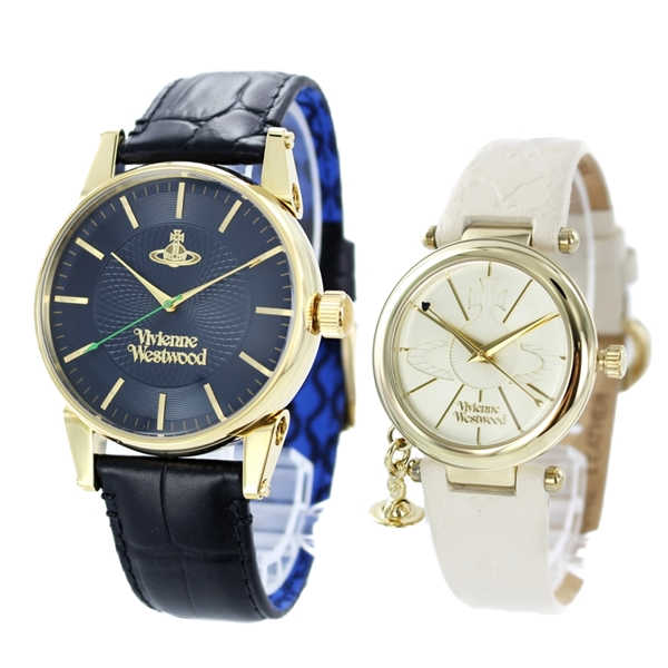 ヴィヴィアン ウエストウッド 時計 ペアウォッチ フィンズバリー オーブチャーム レザー VV065NVBKVV006WHWH ペアセット カップル ブランド 誕生日 お祝い プレゼント ギフト