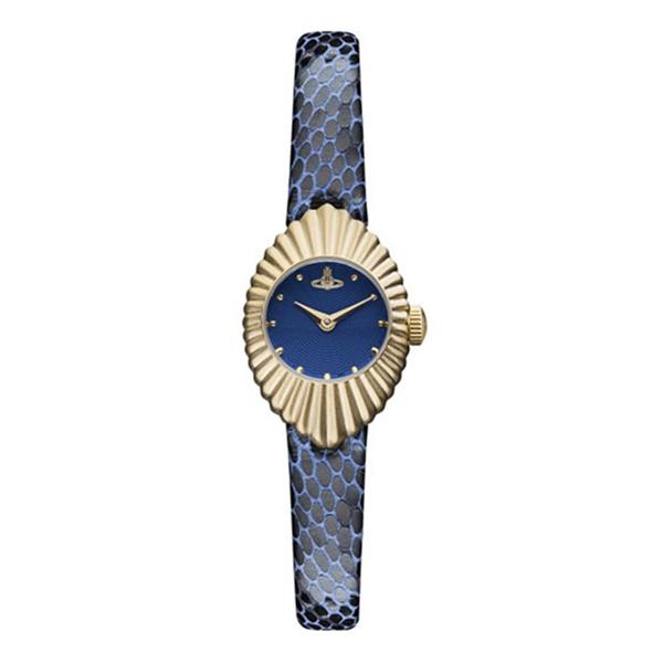 【アウトレット処分 売り切れご免】ヴィヴィアン ウエストウッド 時計 レディース 腕時計 Concertina コンサーティーナ 小ぶり 小さい ゴールド ブルーレザー 青い時計 VV096NVNV ビジネス 女性 ブランド 時計 誕生日 お祝い プレゼント ギフト