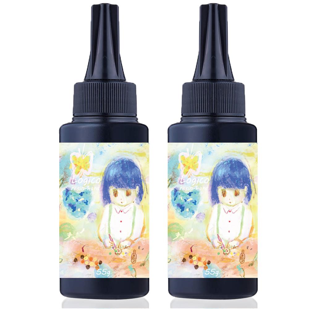 正規激安 Logico レジン液 ハード 日本製 お買い得 55g 110g 2本 UV-LED対応