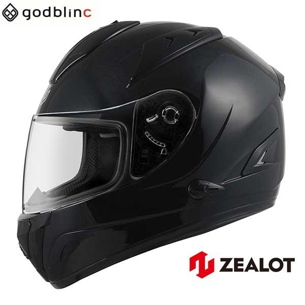 ZEALOT ジーロット ヘルメット フルフェイス ZG AeroTourist エアロツーリスト SOLID BLACK  M L XL godblinc ゴッドブリンク