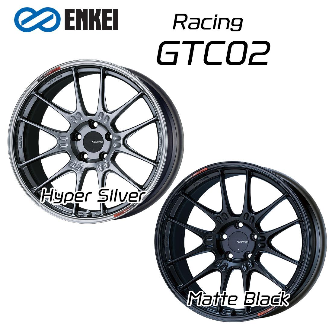 エンケイ ホイール レーシング GTC02 19インチ 10.5J ENKEI Racing マット ブラック ハイパー シルバー 車 かっこいい