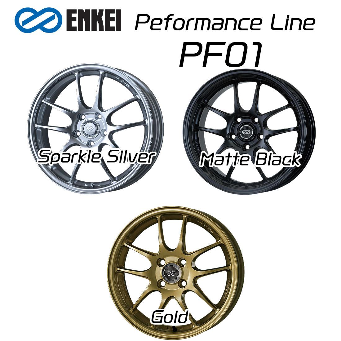 エンケイ ホイール パフォーマンスライン PF01 18インチ 10.5J ENKEI Peformance Line スパークル シルバー マット ブラック ゴールド 車 かっこいい