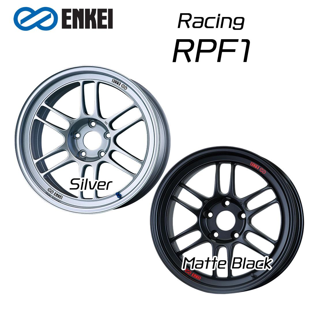 エンケイ ホイール レーシング RPF1 18インチ 10.5J ENKEI Racing マット ブラック シルバー 車 かっこいい
