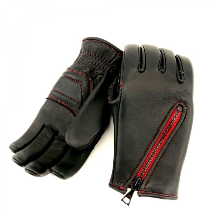 ThreeSeason TAKA-065 ブラック(レッド) BLACK(RED) CACAZAN 手袋 オーダーメイド手袋 革手袋 バイク グローブ プレゼント スキレット バイカーズアイテム おすすめ 人気 カカザン 革グローブ バイク用 スリーシーズン 春 秋 冬 仕様