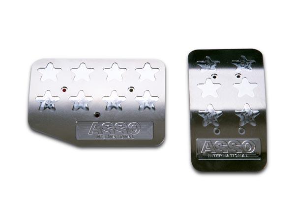 アルミペダル FIAT500 / ABARTH500 / FIAT500X AT車専用 Ino la Design ASSO アッソ