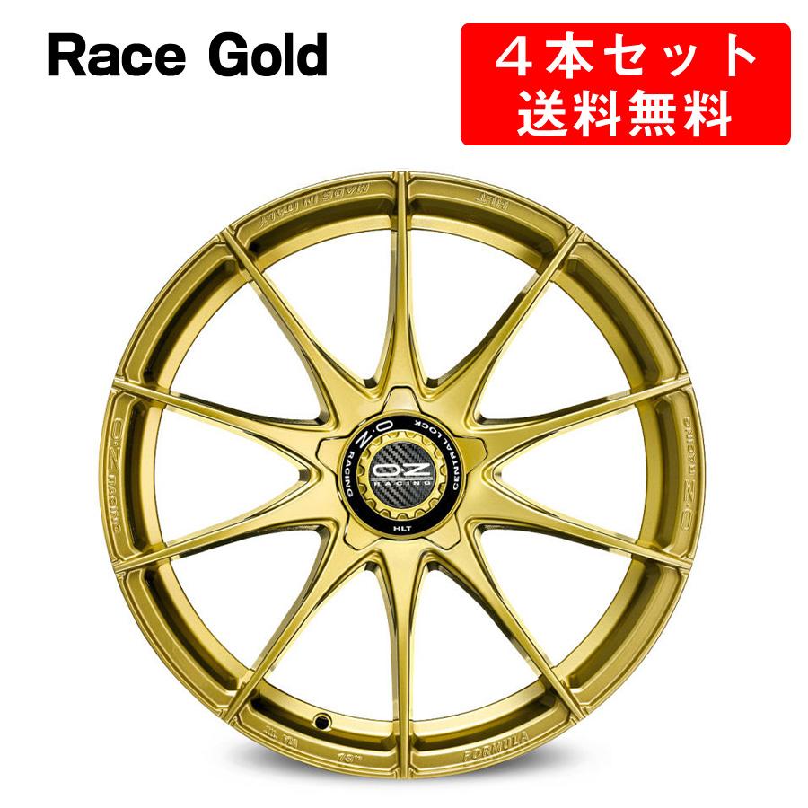 Formula HLT 5H アルミホイール 4本セット 17インチ 9x17J インチ 5穴 レースゴールド イタリア製 OZ オーゼット フォーミュラHLT-5H Grigio Corsa/MattBlack OZ Racing