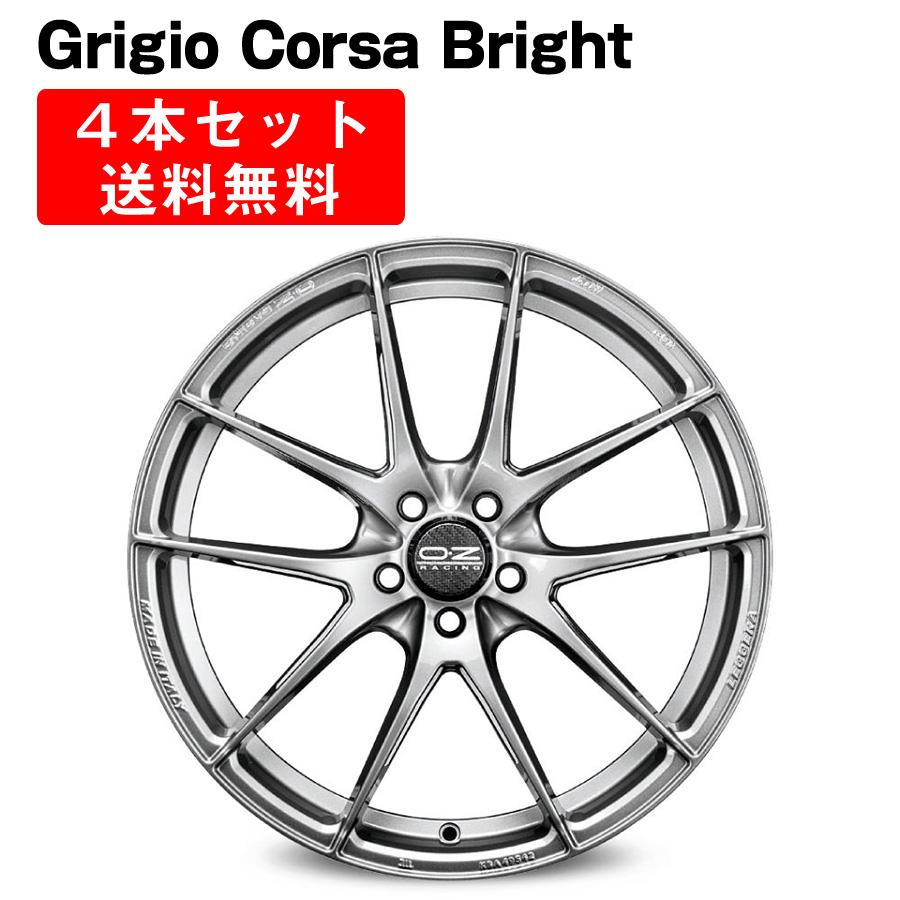 Leggera HLT アルミホイール 4本セット 20インチ 10x20J インチ 5穴 グリジオコルサブライト/グロスブラック イタリア製 OZ オーゼット レッジェーラHLT GrigioCorsaBright/GlossBlack OZ Racing