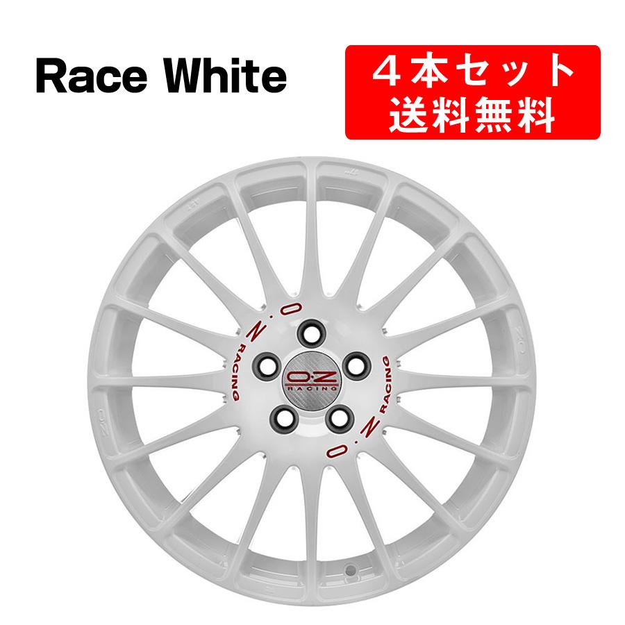 Superturismo WRC アルミホイール 4本セット 16インチ 7x16J インチ 4穴 レースホワイト イタリア製 OZ オーゼット スーパーツーリズモWRC RaceWhite OZ Racing