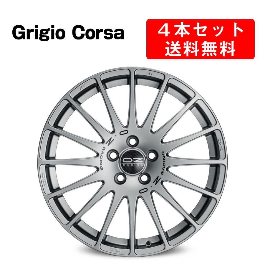Superturismo GT アルミホイール 4本セット 16インチ 7x16J インチ 4/5穴 グリジオコルサ/マットブラック イタリア製 OZ オーゼット スーパーツーリズモGT GrigioCorsa/Matt Black OZ Racing
