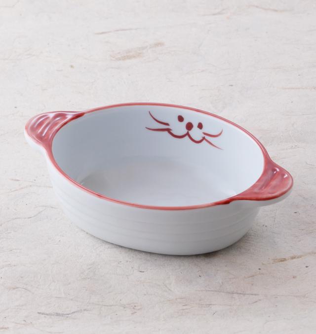 和食器 ねこ 日本製 国産 国内即発送 陶器 ギフト 皿 期間限定今なら送料無料 美濃焼 食器 可愛い おしゃれ グラタン皿 ピンク