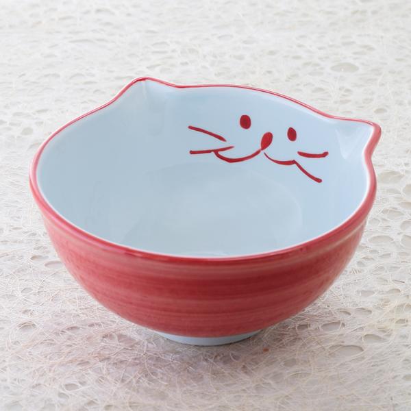 和食器 ねこ 日本製 国産 陶器 ギフト 海外並行輸入正規品 お椀 食器 セール 登場から人気沸騰 おしゃれ 可愛い 猫耳付きどんぶり 中丼 美濃焼 18cm ボウル ピンク うどんや麺類の盛り付けに