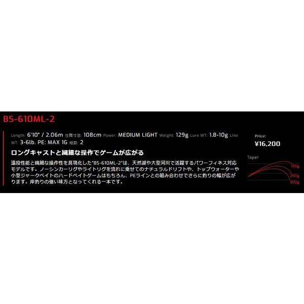 JACKALL / BPM BS-610ML-2 2ピースモデル スピニング