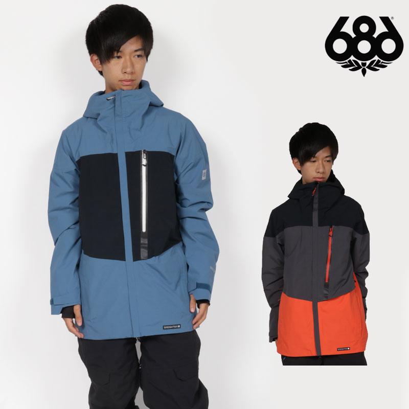 予約商品 18-19 新作 686 SIX EIGHT SIX ウェア メンズ ジャケット GLCR GORE-TEX GT JACKET スノーボードウェア スノボ L8W103