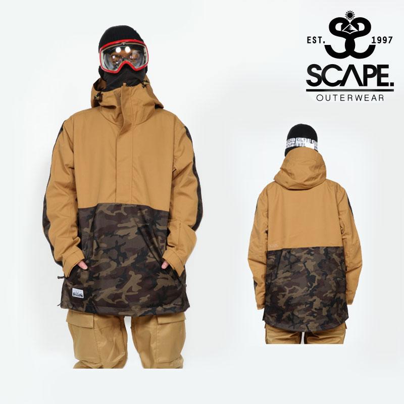 即日発送 18-19 新作 SCAPE エスケープ メンズ ウェア ジャケット HOLDER JACKET スノボ 71118310