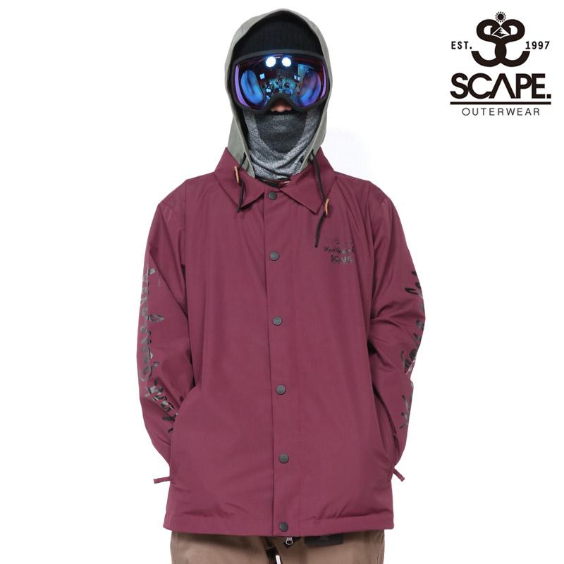 SCAPE エスケープ ウェア コーチジャケット メンズ COACH JACKET スノーボードウェア スノボ 711-183 セール SALE