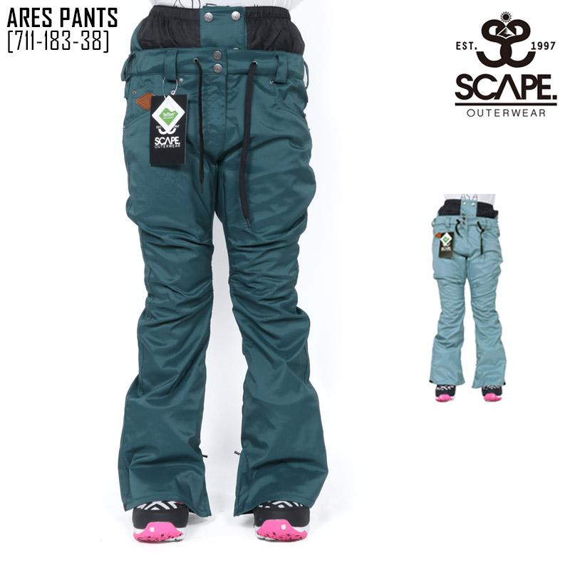 45%OFF SCAPE エスケープ ウェア パンツ レディース ARES PANTS スノーボードウェア スノボ 711-183-38 セール SALE