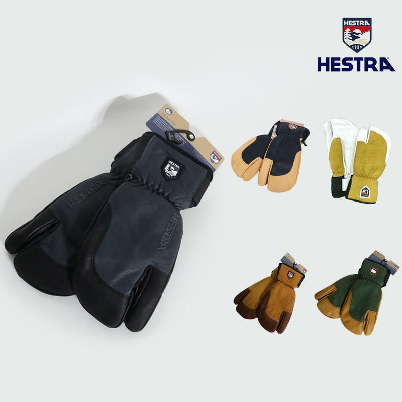 18-19 新作 HESTRA ヘストラ グローブ 3-FINGER FULL LEATHER SHORT スノーボード 3フィンガー 33872 メンズ レディース