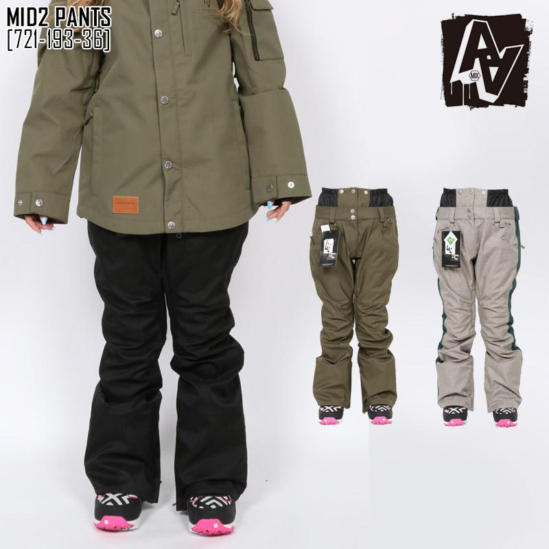 SALE セール 19-20 AA HARDWEAR ダブルエー スノボ ウェア レディース パンツ MID2 PANTS スノーボードウェア スキーウェア