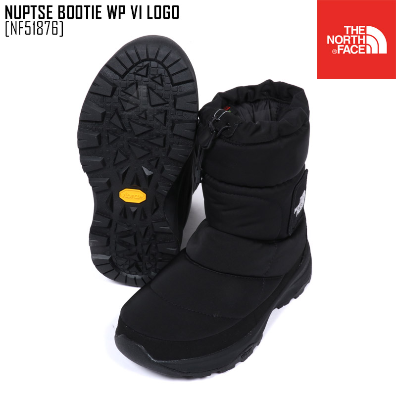 送料無料 ノースフェイス THE NORTH FACE メンズ レディース ブーツ 靴 セール SALE 海外 ヌプシ ブーティー ウォータープルーフ ロゴ VI K 大幅にプライスダウン WP BOOTIE NUPTSE LOGO TNFブラック NF51876