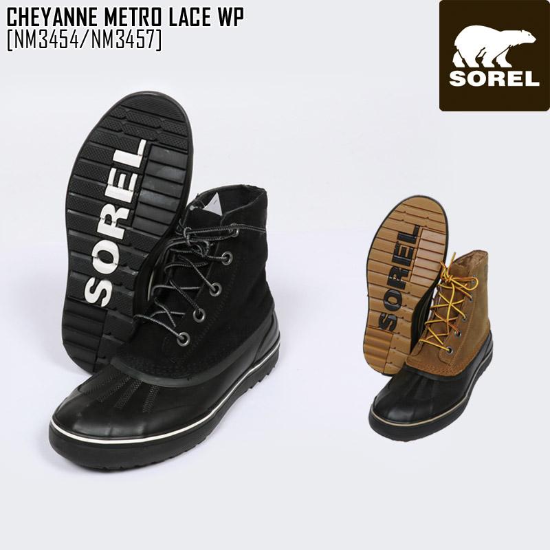 送料無料 ソレル SOREL 靴 大人気! ブーツ メンズ セール SALE シャイアン CHEYANNE 限定モデル レース メトロ METRO WP NM3454 NM3457 LACE