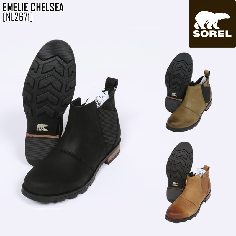 SOREL ソレル スノーブーツ レディース EMELIE CHELSEA ブーツ スノーシューズ NL2671