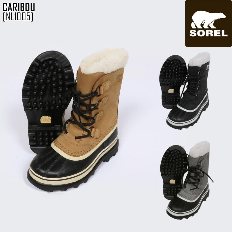SOREL ソレル スノーブーツ レディース CARIBOU カリブー スノーシューズ NL1005