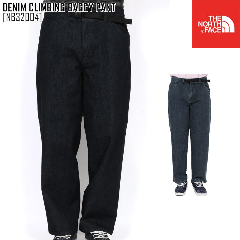 セール ノースフェイス NB32004 デニム パンツ メンズ バギーパンツ アウトドアブランド DENIM CLIMBING BAGGY PANT