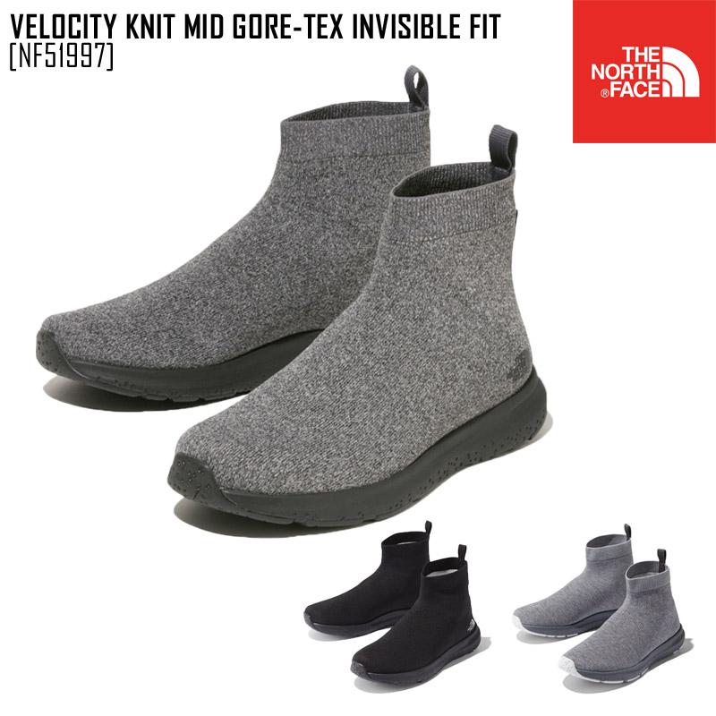 ノースフェイス ベロシティ ニット ミッド GORE-TEX インビジブル フィット VELOCITY KNIT MID GORE-TEX INVISIBLE FIT ブーツ 靴 NF51997 メンズ レディース