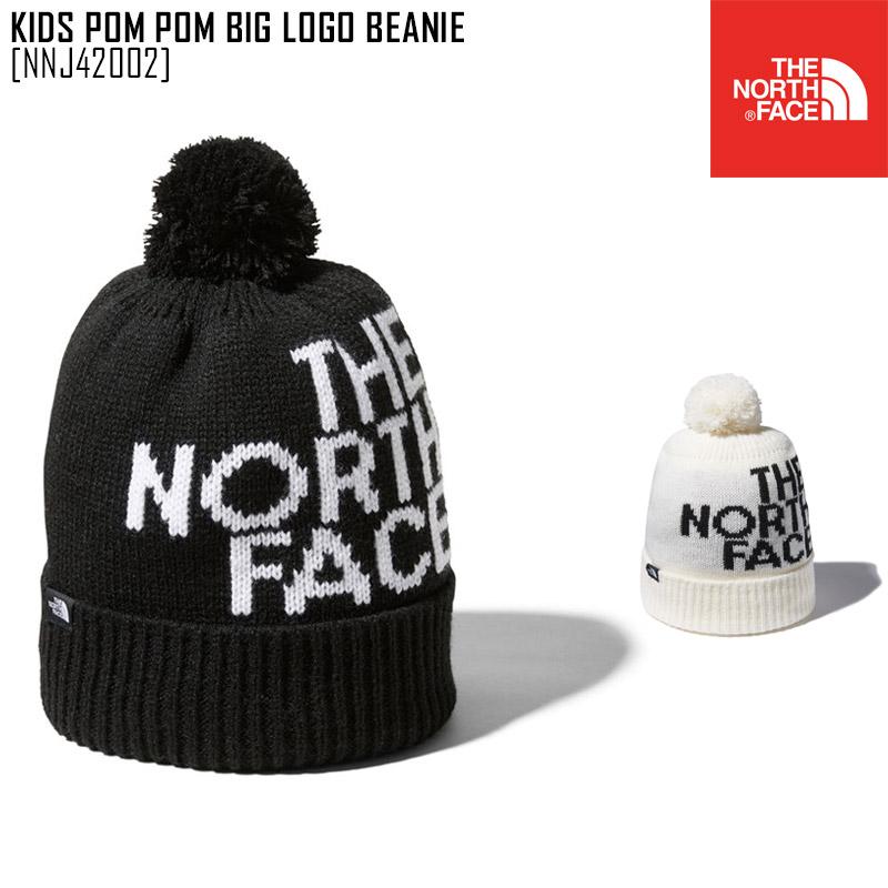 2021 爆売りセール開催中 メール便対応 ノースフェイス THE NORTH FACE キッズ 帽子 ニット帽 ビーニー 祝開店大放出セール開催中 ロゴ LOGO NNJ42002 ポン ビッグ 新作 BIG POM KIDS BEANIE