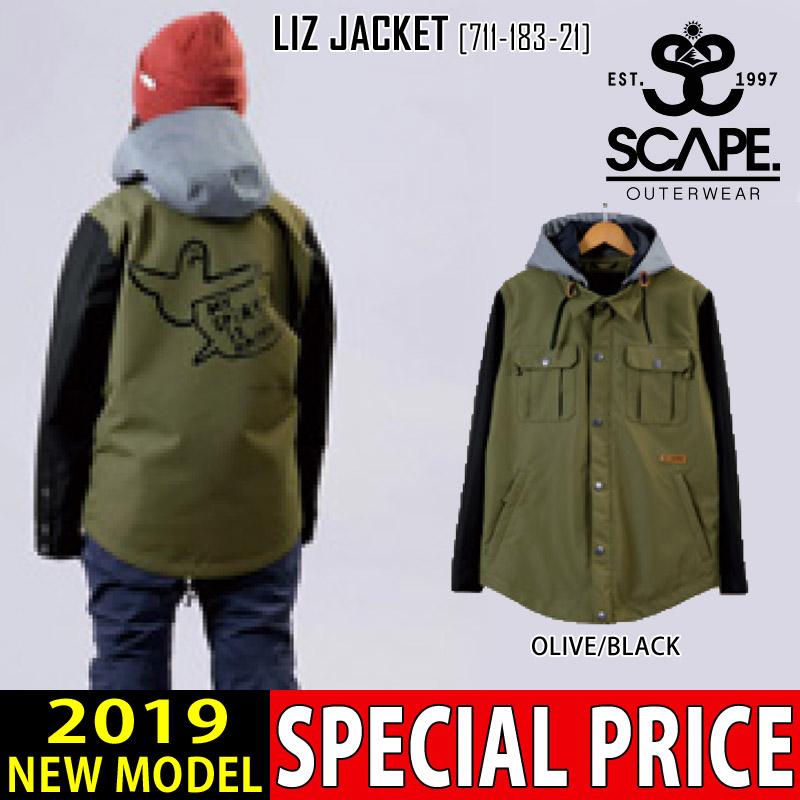 即日発送 18-19 新作 エスケープ SCAPE リズ ジャケット LIZ JACKET ウェア スノボ 71118321 レディース