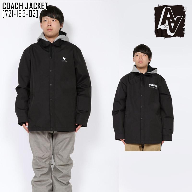19-20 ダブルエー AA HARDWEAR コーチ ジャケット COACH JACKET スノーボードウェア スノボ 721-193-02 メンズ