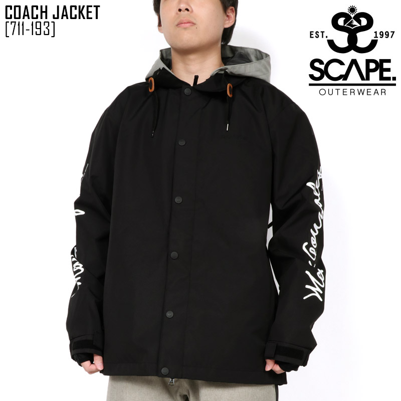 19-20 エスケープ SCAPE コーチ ジャケット COACH JACKET スノーボードウェア スノボ 711-193 メンズ