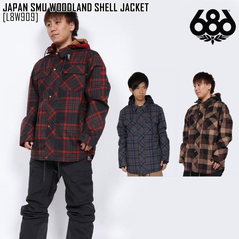即日発送 18-19 新作 686 SIX EIGHT SIX ジャパン SMU ウッドランド シェル ジャケット JAPAN SMU WOODLAND SHELL JACKET ウェア スノボ L8W909 メンズ