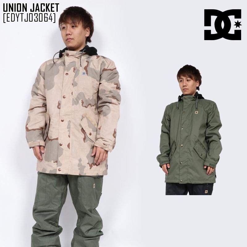 予約商品 18-19 新作 DC ディーシー ユニオン ジャケット UNION JACKET ウェア スノボ EDYTJ03064 メンズ