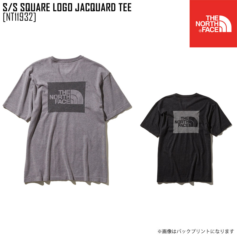 f4795db06 North Face THE NORTH FACE short sleeve square logo jacquard tea S/S SQUARE  LOGO JACQUARD TEE T-shirt tops NT11932 men in the spring and summer latest  ...