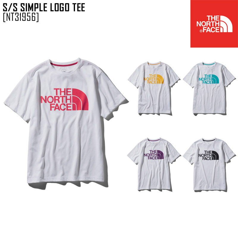 448169555 North Face THE NORTH FACE short sleeve Shin pull logo tea S/S SIMPLE LOGO  TEE T-shirt tops NT31956 men in the spring and summer latest 2019