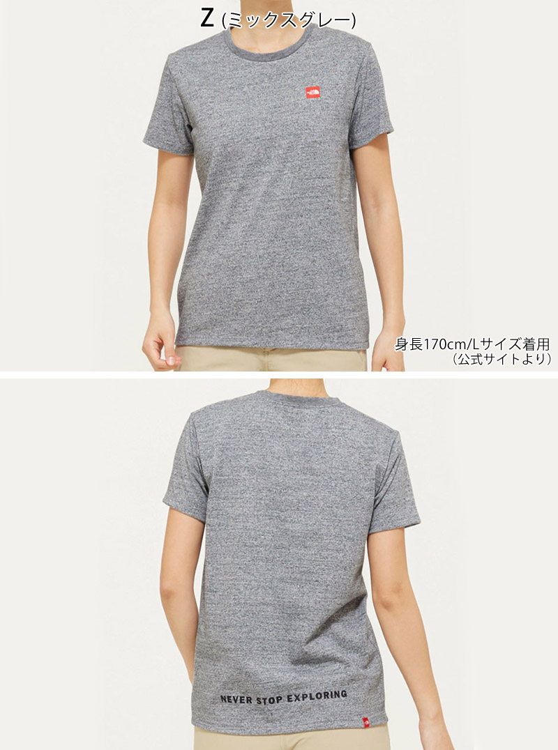 9890f7018 North Face THE NORTH FACE short sleeve Small box logo tea S/S SMALL BOX  LOGO TEE T-shirt tops NTW31955 Lady's in the spring and summer latest 2019