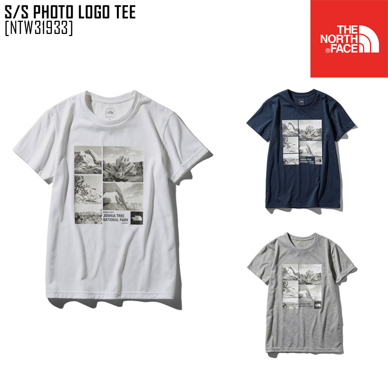 6a24532d5 North Face THE NORTH FACE short sleeve photo logo tea S/S PHOTO LOGO TEE  T-shirt tops NTW31933 Lady's in the spring and summer latest 2019