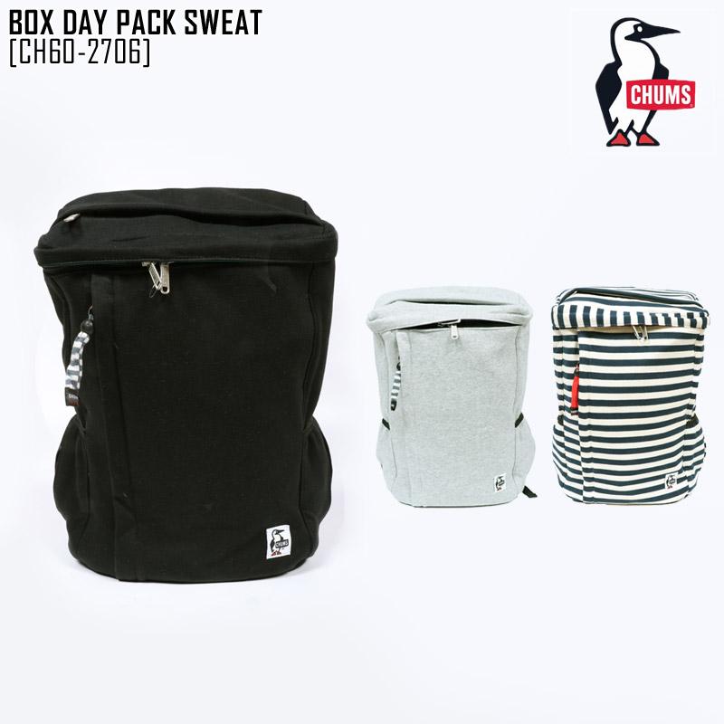 19春夏 新作 チャムス CHUMS ボックス デイ パック スウェット BOX DAY PACK SWEAT リュック バッグ CH60-2706