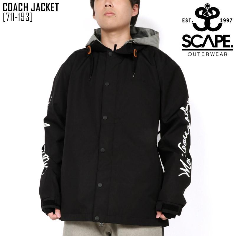 19-20 秋冬 新作 エスケープ SCAPE コーチ ジャケット COACH JACKET ウェア スノボ 711-193 メンズ