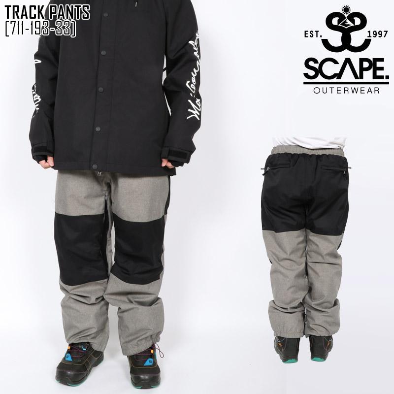 19-20 秋冬 新作 エスケープ SCAPE トラック パンツ TRACK PANTS ウェア スノボ 711-193-33 メンズ