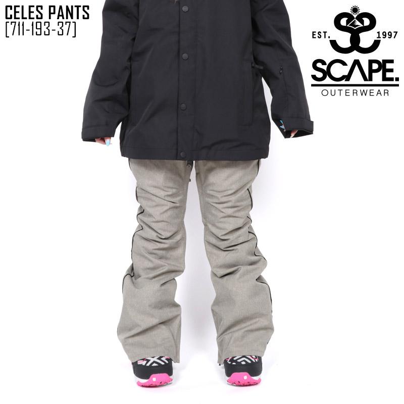 19-20 秋冬 新作 エスケープ SCAPE セレス パンツ CELES PANTS ウェア スノボ 711-193-37 レディース