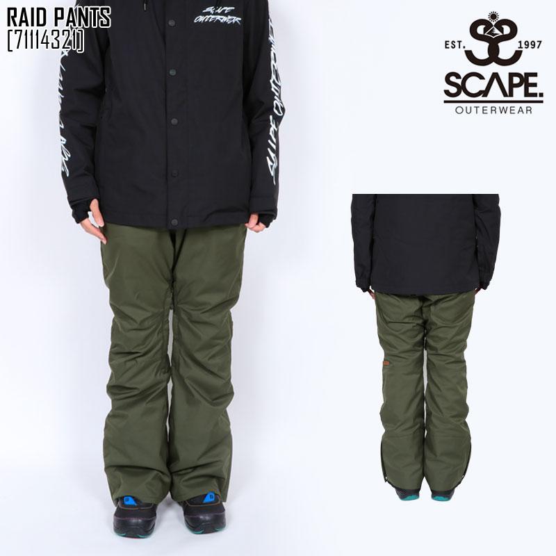 エスケープ SCAPE レイド パンツ RAID PANTS スノボ ウェア メンズ