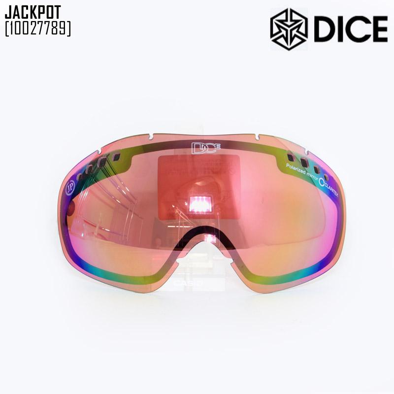 【 ダイス DICE 】JACKPOT用スペアレンズ(PASTEL PINK MIRROR POLA PINK BASE) ミラーレンズ